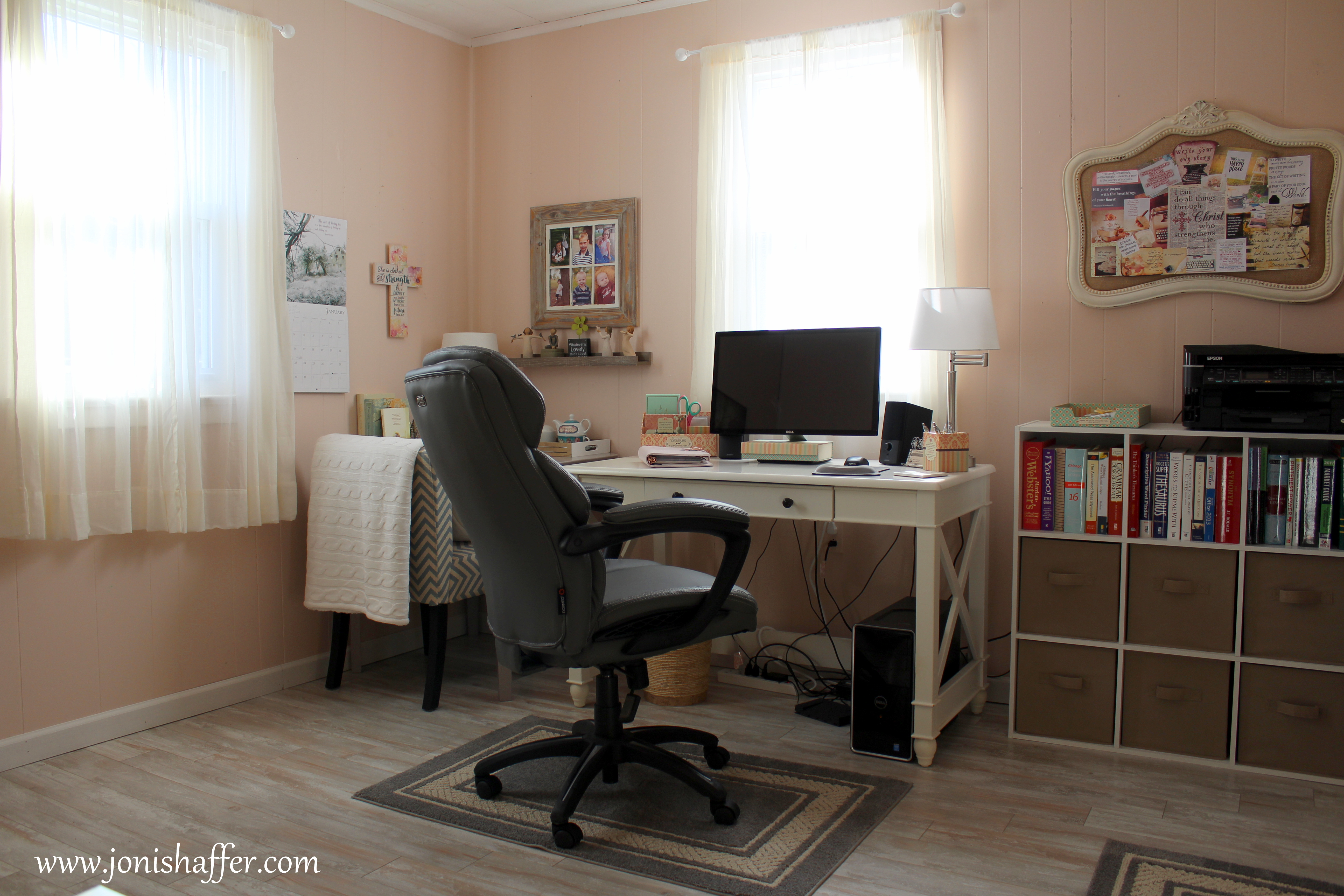 Cottage Style Home Office Makeover